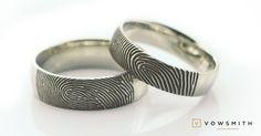 The Classic! Fingerprint Wedding Bands, Fingerprint Ring, Rings For Men, Wedding Rings, Engagement Rings, Classic, Jewelry, Weddings, Engagements