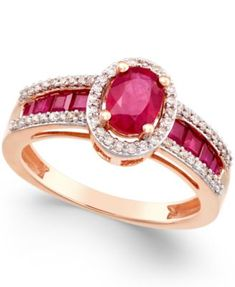 ) and Diamond ct.) Ring in Gold (Also in Sapphire & Certified Ruby) - Ruby/Rose Gold Designer Engagement Rings, Vintage Engagement Rings, Gold Diamond Wedding Band, Rose Gold, Ruby Rose, Ruby Rings, Diamond Rings, Gold Rings, Emerald Rings