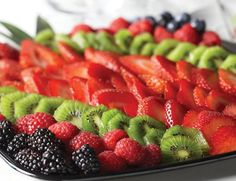 Sparkling berry platter
