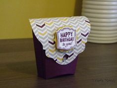 Stampin' Up! - Fry Box - Happy Birthday Fry Box - Stamping With Val - Valerie Moody; Independent Stampin' Up! Demonstrator. X