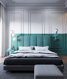 Inspirational ideas about Interior Interior Design and Home Decorating Style for Living Room Bedroom Kitchen and the entire home. Curated selection of home decor products. Hotel Room Design, Interior Design Living Room, Design Bedroom, Stylish Bedroom, Modern Bedroom, Bedroom Goals, Home Bedroom, Bedroom Decor, Casa Milano