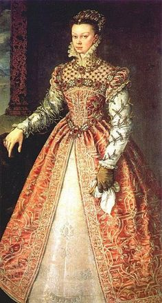 Elisabeth of Valois (1545-1568), princess of France, later queen of Spain, painted by Alonso Sánchez Coello.