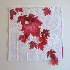 Canada 150 Art Quilt Red Maple Leaves