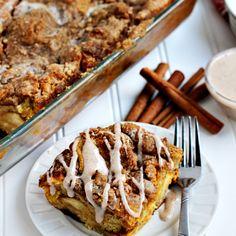 Overnight Pumpkin Cheesecake French Toast Casserole - Julie's Eats & Treats