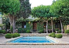 Provence in Ojai Landscape Design By paulhendershotdesign.com #landscape + #furniture #designer #landscapedesign #provence #france #french #mediterranean #italy #italian #spain #mexico #california #fireplace #pool #rockwall #courtyard #handcrafted #topiary #trees #drought #boxwood #outdoorliving #indoor #outdoor #swimmingpool #patio #pathway #exterior #home #house #renovation #architecture #worldwide