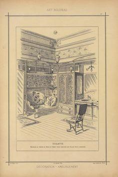 Toilette : meubles et sièges en bois de frêne verni découpé sur glace pour l'armoire - ID: 96863 - NYPL Digital Gallery