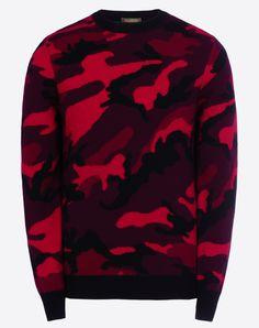 Valentino Online Boutique - Valentino Men Cashmere Camouflage Sweater