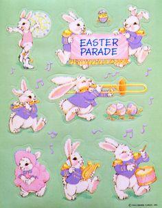 Hallmark Easter bunny parade stickers