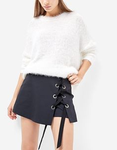 At Stradivarius you'll find 1 Lace up skort for just 109.9 Israel . Visit now to discover this and more null.
