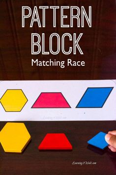 These pattern block matching race cards are a sure way to help your kids work on matching patterns.Just choose the number of players, cards and a timer.