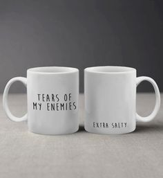 A mug that's perfect for taking slow, meaningful sips of tea from. Get it from Andrea Emporium on Etsy for $9.