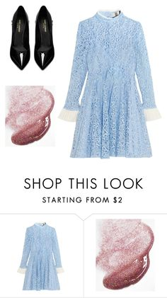 """""""Untitled #796"""" by watermelon-lane ❤ liked on Polyvore featuring Topshop Unique, ILI and Yves Saint Laurent"""