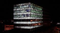 Bloom - Live projection mapping performance onto Crown House, Kidderminster, U.K.