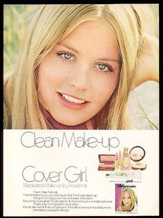 1971 Cybill Shepherd photo in color Cover Girl makeup vintage print ad