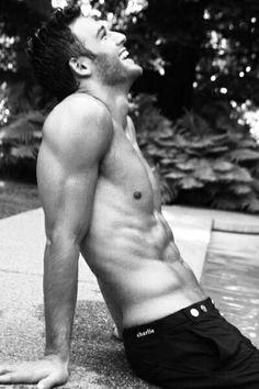 Ryan Guzman by the pool