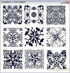 Elegant star patterns