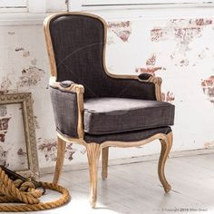 Claudette Armchair - French Provincial Furniture - Milan Direct. Seat height is 45 cm - think this is a bit low for me unfortunately. $599 but actually is $716 delivered. Delivery price is on each chair, not just once.