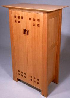 Michael Singer Fine Woodworking- hall cabinet, douglas fir