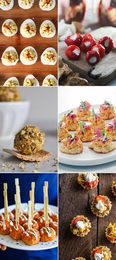 When hosting a cocktail party, the key is keeping things bite-sized so that you and your guests can navigate nibbling with a drink in hand. We're talking appetizers and desserts that pack plenty of flavor but require no utensils and no cleanup. Keep reading for 25 of our favorite recipes that pair perfectly with bubbly, of course.