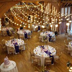 The Tudor Barn Burnham. Festoon Light Canopy #festoon #weddinglighting
