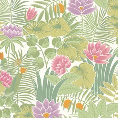 Little Greene Reverie Wallpaper in Jardin - Meditate in Style - http://godecorating.co.uk/little-greene-reverie-wallpaper-jardin/