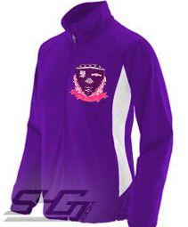 Sigma Lambda Gamma Logo Track Jacket, Purple/White  Item Id: PRE-TRK-SLGLOGO  Price:  $69.00
