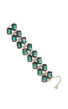 Vintage Schiaparelli Rectangular Stone Bracelet by Carole Tanenbaum - Moda Operandi
