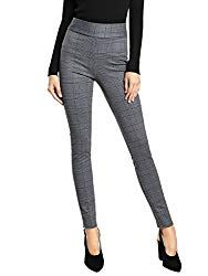 Premium Women's Stretch Dress Pants - Wear to Work - All Day Comfort - Solids and Pinstripes - Ponte Pants Casual Work Outfits, Business Casual Outfits, Work Casual, Women's Casual, Work Attire, Stylish Outfits, Casual Pants, Flannel Lined Jeans, Plaid Pants
