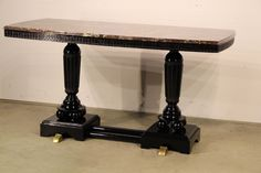 Art Deco table marble top desk table