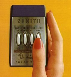 1971 Zenith remote control. The first remote control. Remember that jingling the keys also changed the channel!