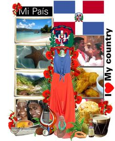"""REPUBLICA DOMINICANA: I ♥ my country."" by didix3 ❤ liked on Polyvore"
