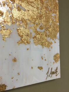 This item is an acrylic painting with gold leaf accents, with a glass-like resin coating that adds a glossy shine to the art. The coating works to bring out all of the nuances of the color and to accent the gold leaf! **This exact painting was a custom order and is sold, but a