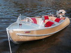 Feather Craft w/ Johnson Speed Boats, Power Boats, Aluminium Boats, Chris Craft Boats, Runabout Boat, Classic Wooden Boats, Cabin Cruiser, Vintage Boats, Diy Boat