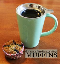 Healthy Banan Blueberry Flax Muffins recipe