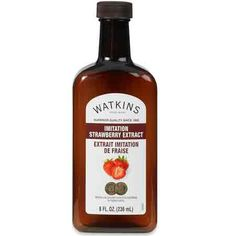 Strawberry Extract, 8 oz: High in flavoring content; full, long-lasting flavor and strength. Use for baked goods, ice cream, syrup, frostings, candies, breads, fruit sauces, jellies, marinades and gelatins.