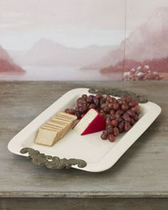I will use this platter for cheese and crackers for appetizers, and then for my Turkey Platter !!!