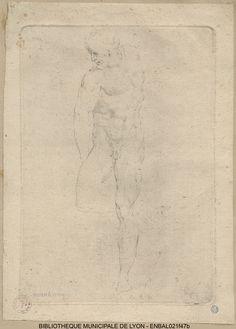 Etude d'homme nu par Charles-Antoine Coypel