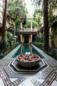From the court of Riyad Al Moussika in Marrakech Riad Morocco Riad Marrakech, Marrakesh, Marrakech Travel, Casa Patio, Hotels, Moroccan Tiles, Moroccan Decor, Moroccan Curtains, Morrocan Interior