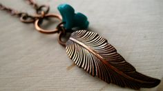 FLORA Feather Necklace by Slice Studio on Etsy $18.00 PDX Etsy