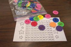 Math tub ideas.  Based on Kathy Richardson.