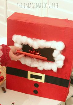 Santa mail box in the Christmas writing area