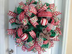 Christmas Wreath Winter Wreath by EastCarolinaGirl on Etsy,