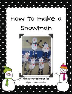 Snowman glyph!!! Gotta add this to December lesson plans!!