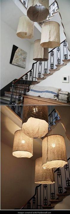 DIY DECOR AND CRAFTS: DIY: Rustic Linen Lampshades