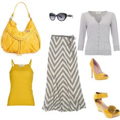 Love the gray and yellow!
