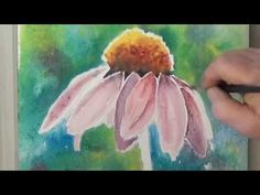 How To Paint A Coneflower in Watercolor For Beginners - YouTube