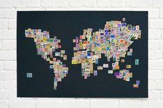 Map with stamps