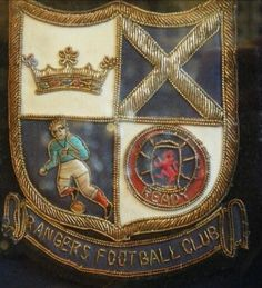 Rangers blazer badge from the Rangers Football, Football Icon, Rangers Fc, West Bromwich Albion Fc, Sir Alex Ferguson, Bear Face, Football Pictures, Remembrance Day, My Church