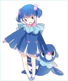 Popplio as a wee human child <3 X3