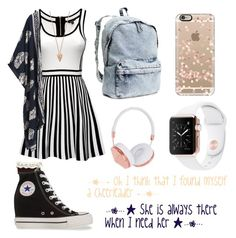 """Omi"" by gray-lilly on Polyvore featuring H&M, Frends, Casetify, Pamela Love, River Island and Converse"